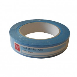 Masking tape UV blauw 25mm