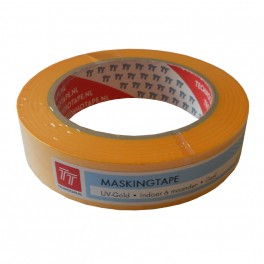 Masking tape UV Fineline Geel 25 mm
